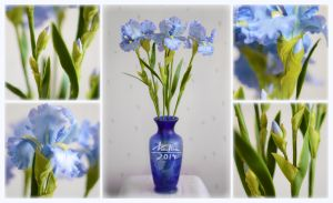Clay irises by dallia-art