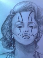 Marilyn Monroe Clown by ASanchezDesigns