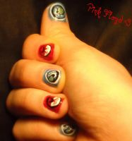 Pink Floyd Nail Art by copperkid3