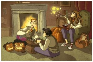 Cozy in the Common Room by kyla79
