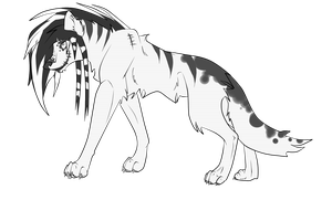 Black and White scenewolf - point adopts by xPixe