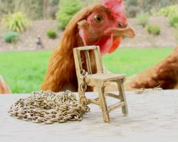chicken chair necklace by leendersphotography