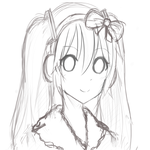 Snow Miku Sketch~ by SkyFlameLitMoon23