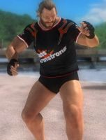 DOA5 Bass Armstrong Fighter Costume by darkblueking