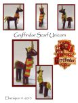 Gryffindor Scarf Unicorn by MalaCembra