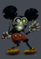Undead Mickey by AjonesA
