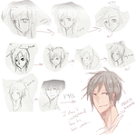 redrawing same 3/4th face every year since 2005 by kyunyo
