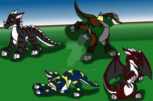 4 New Baby Dragon's by 6liza6