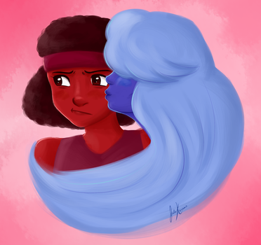 Ruby and Sapphire by Tetra-Zelda