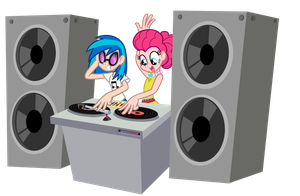 Love is in bloom: Pinkie Pie and Vinyl Scratch by Trinityinyang