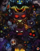 Spooky Spookemons by BearWithGlasses