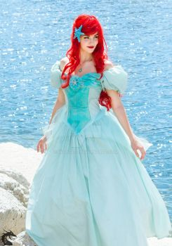 Never Far From Home (Ariel Blue Ballgown) by woot859