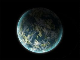 blue planet land test by vissroid
