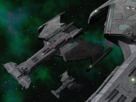 Klingon Science Fleet Doing Science by Paul-Lloyd