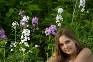Haley and  Flowers by deke8706