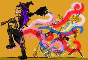 BISEXUAL AUTUMN WITCH by graceofaeons