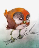 Pudgy little bird by stick1981
