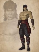 Liu Kang (primary) by deexie