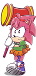 Classic Amy Rose by LynIcarus