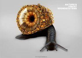 Steampunk Snail Sound System by squiffythewombat
