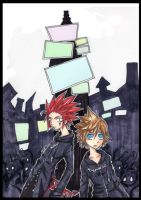 Roxas and Axel by Jump-Button