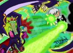 Danny Phantom fights COSMOS My OC ghost dragon by littlewashu45