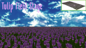 Tulip field stage [MMD DL] by ketokeas