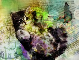 Collage Antique Cat1 by flat23plat