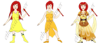 Natsu - Main Outfits by ethereal-dancer