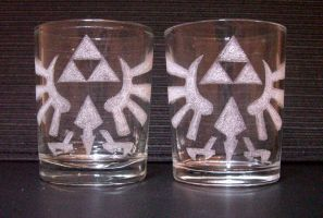Zelda Toasting Glasses by Cyle