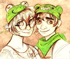 Green Hats by MistyTang