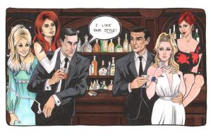 Don Draper meets James Bond 2013 by TessFowler