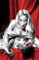 Emma and Cyke Vampires Color by mikemayhew