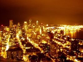 Seattle at Night by VVraith