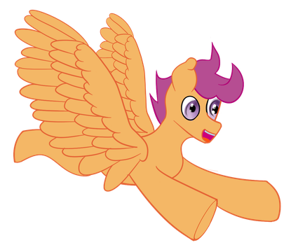 (failed) 30 minute challenge: flying Scootaloo by Dixcord