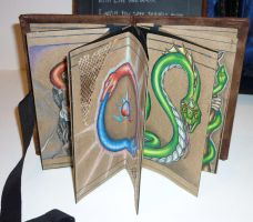 Snakes in Alchemy - Ancient Knowledge Artist Books by tattoo-parlour