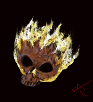Flame Scull by eddieblz