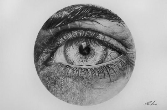 Centrality, graphite on paper by CaterinaMazzei