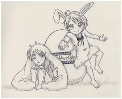 Hetalia: Easter Bunny Thanks by Hawaiian-Brit