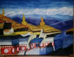 Monasteries in Dochula Bhutan by rimrimrim