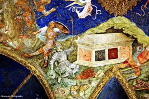 Castle Sforza Milan Ceiling Fresco 3 by Okavanga