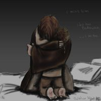 Obi-Wan and Ani miss Qui-Gon by thehaydenclone