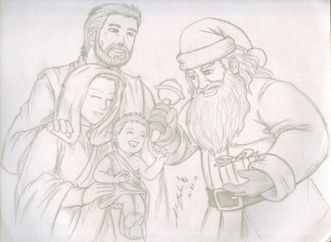 A Christmas sketch by TheALVINtaker