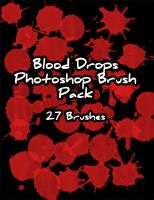 Blood Drops Brush Pack by Zeds-Stock
