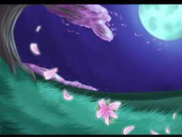 Cherry Blossoms - Free background by Whitefeathur