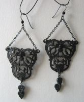 Dark Filigree Earrings by enchantadorn