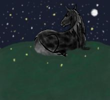 Laying on the Hilltop by awkwardUneecorn