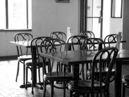The Empty Cafe by Tapped-Creations