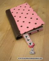 Polka dotted leather journal by SongThread