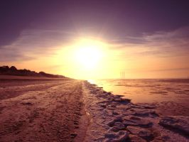 Icy beach by ryMp